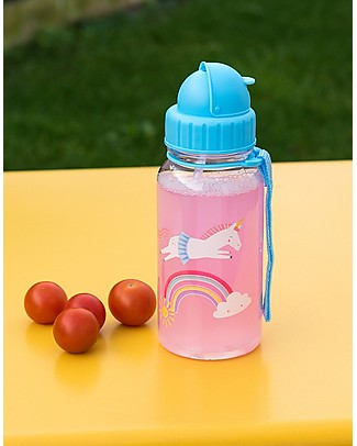 Rex London Water Bottle 500 ml, Magical Unicorn - BPA-free! BPA-Free Bottles