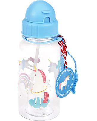 Rex London Water Bottle 500 ml, Magical Unicorn - BPA-free! null