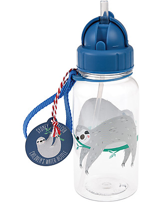 Rex London Water Bottle 500 ml, Sloth - BPA-free! BPA-Free Bottles