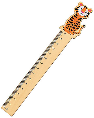 Rex London Wooden Ruler 15 cm, Tiger – Great gift idea for school! Colouring Activities