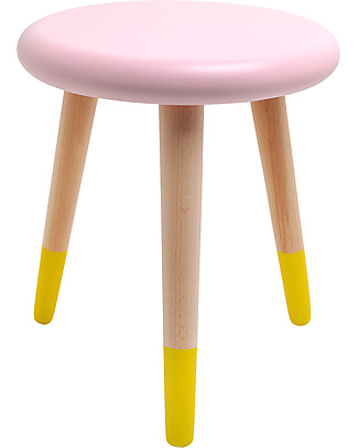 Rose in April Alice Stool - 3 Pied - Pink and Yellow Shelves
