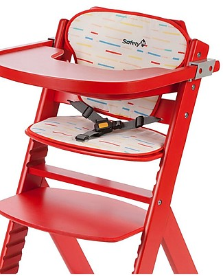 Safety 1st Cushion for Timba High Chair, Red Lines High Chairs