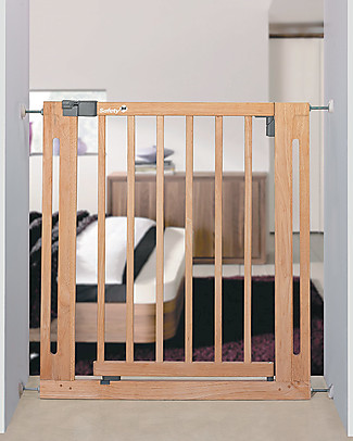 Safety 1st Easy Close 73-80 cm Wooden Baby Gate – Extensible up to 112 cm with separate kit! Safety Gates