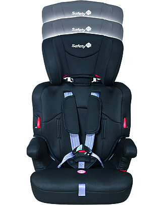 Safety 1st Ever Safe Car Seat, Full Black Group 1/2/3 - from 9 months to 12 years! Toddler Car Seats