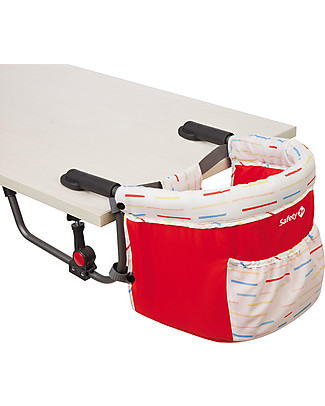 Safety 1st Smart Lunch, Foldable Table Hanger - Red Lines Travel Feeding Chairs