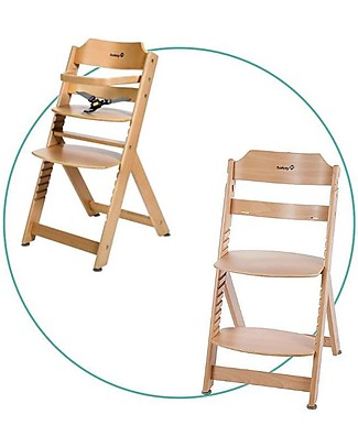 Safety 1st Timba, Evolutive Basic High Chair, Natural - From 6 months to 10 years! High Chairs