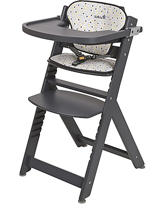 Safety 1st Timba, Evolutive High Chair – Grey Patches – From 6 months to 10 years! High Chairs