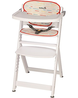 Safety 1st Timba, Evolutive High Chair – Red/White Lines – From 6 months to 10 years! High Chairs