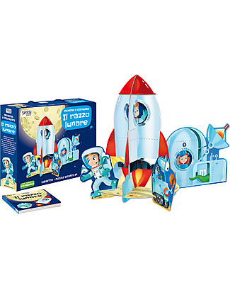Sassi Junior 3D Puzzle & Book, The Rocket - 12 giant pieces! null