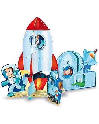 Sassi Junior 3D Puzzle & Book, The Rocket - 12 giant pieces! Puzzles