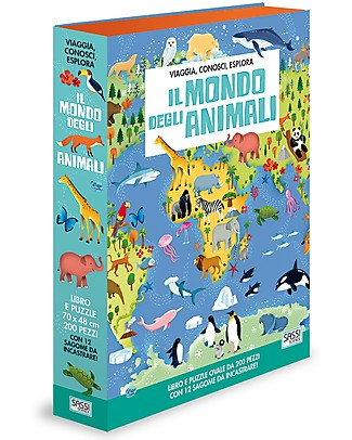 Sassi Junior Book + Giant Puzzle, Il Mondo Degli Animali (in Italiano) - 6+ years!  Books