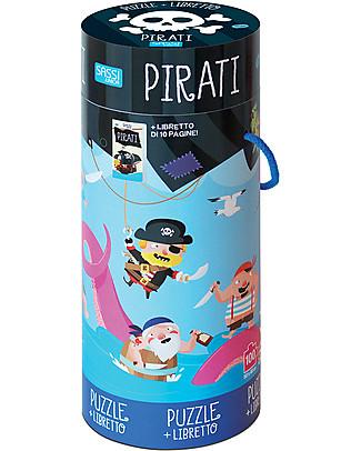 Sassi Junior Book + Giant Puzzle, Pirates - 5+ years!  Puzzles