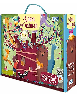 Sassi Junior Book + Giant Puzzle, The Animal Tree - 3+ years! Books
