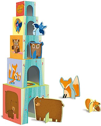 Sassi Junior Stacking Blocks, Baby Animals of the Forest Books
