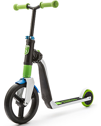 Scoot and Ride 2in1 Kids Scooter and Balance Bike Highwayfreak, White/Blue/Green - 3+ years Balance Bikes