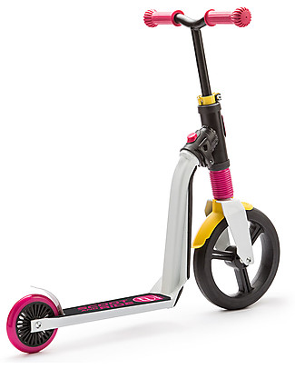 Scoot and Ride 2in1 Kids Scooter and Balance Bike Highwayfreak, White/Pink/Yellow - 3+ years Balance Bikes