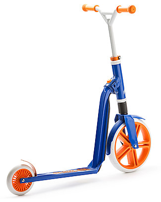 Scoot and Ride 2in1 Kids Scooter and Balance Bike Highwaygangster, White/Blue/Orange - 5+ years old Balance Bikes