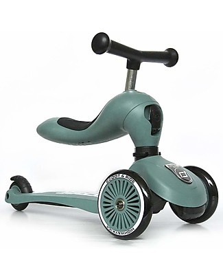 Scoot and Ride 2in1 Scooter and Balance Bike Highwaykick 1, Forest - From 1 up to 5 years old Balance Bikes