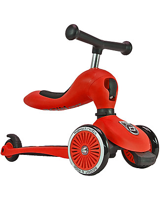 Scoot and Ride 2in1 Scooter and Balance Bike Highwaykick 1, Red - From 1 up to 5 years old Balance Bikes