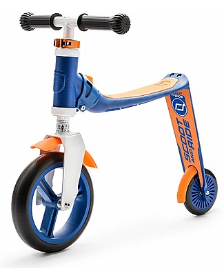 Scoot and Ride 2in1 Toddlers Scooter and Balance Bike Highwaybaby, Blue/Orange - 1+ years old Balance Bikes