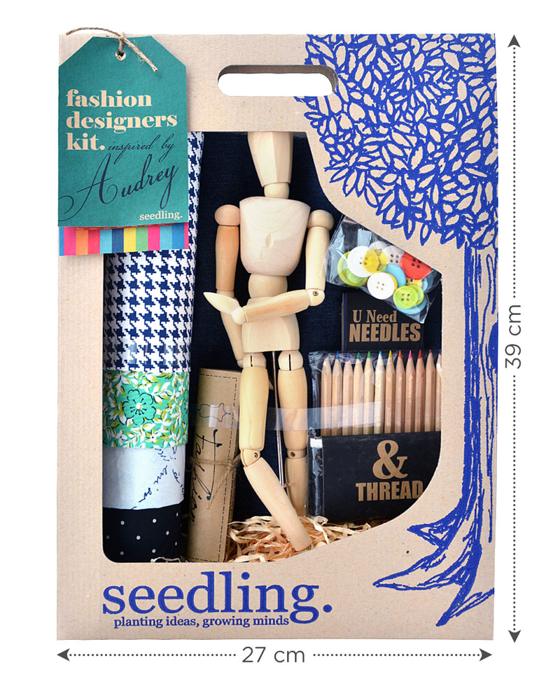 Seedling Fashion Design Kit Inspired By Audrey Creative Kit For 8 Years Girl