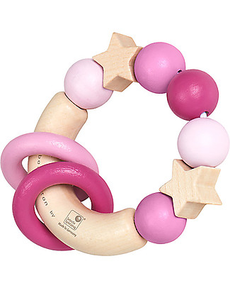 Selecta Magic Touch, Pink – Wooden gripping toy, suitable from birth! Wooden Rattles