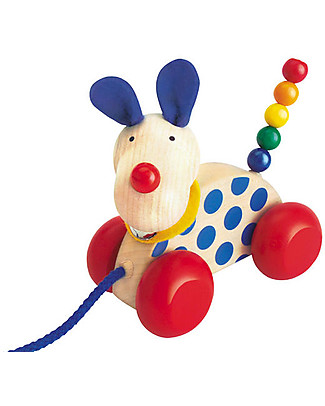 Selecta Nico, Wooden Pull-Along Dog Wooden Push & Pull Toys