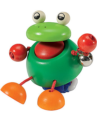 Selecta Pepito, Wooden Frog for Buggy Wooden Rattles