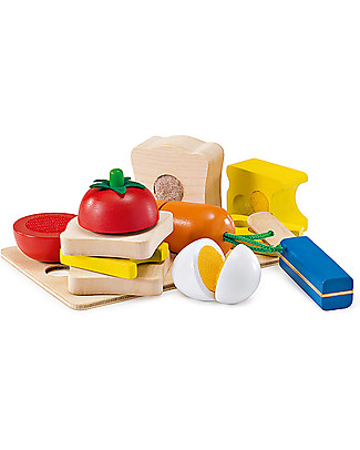 Selecta Picnic, Wooden Toy - With Velcro for Easy Assembly Wooden Blocks & Construction Sets