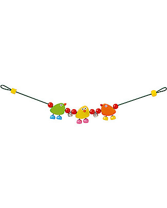 Selecta Piepolini – Wooden pram chain Wooden Rattles