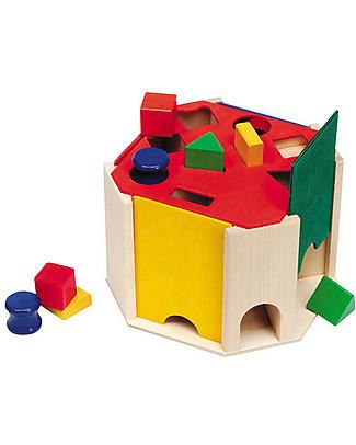 Selecta Quatrino - Shape sorting wooden toy Montessori Toys