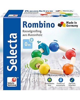 Selecta Rombino, Wooden Toy - Ideal from birth! Rattles