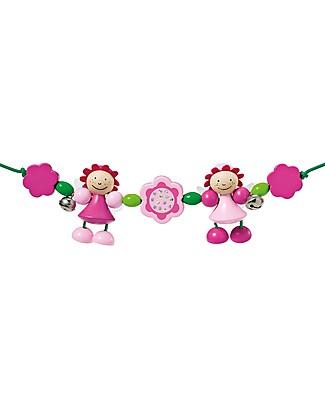 Selecta Rosalie - Wooden pram chain, 63 cm Stroller Accessories