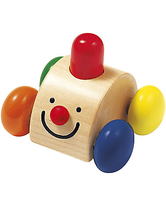 Selecta Sonato – Wooden Toy Car, Squeaks Happily when Pressed! Teethers