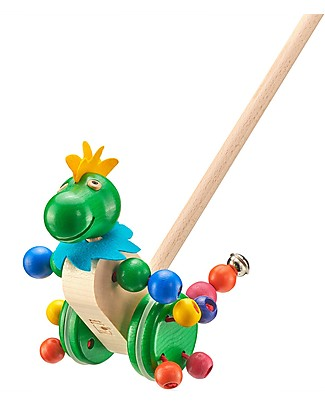 Selecta Tattolo - Wooden Push-along Dragon Toy Wooden Push & Pull Toys