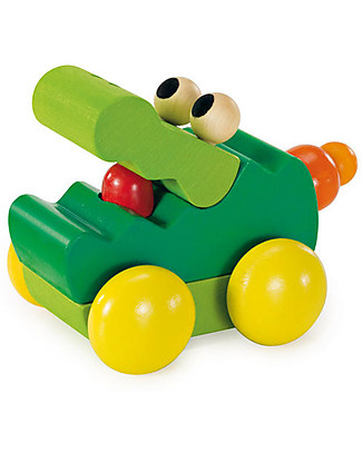 Selecta Zoolini Krokodil, Wooden Toy - Ideal from birth! Wooden Rattles