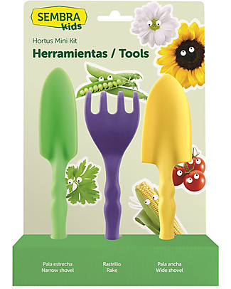 Sembra Mini Kit Tools - Use them to plant and grow your vegetables  STEM toys