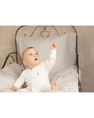 Sense Organics Baby Natural Footed Sleepsuit Ysior, Eco-white - 100% organic cotton Pyjamas
