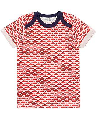 Sense Organics Baby Short Sleeves Shirt Tobi, Origami Boats - 100% organic cotton T-Shirts And Vests