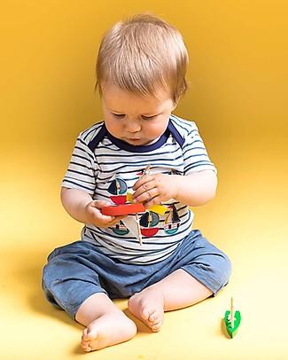 Sense Organics Baby Shorts Magesh, Steal Blue - 100% organic cotton Shorts