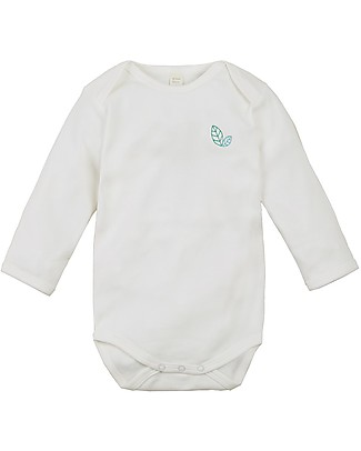 Sense Organics Long Sleeves Baby Body Yvon, Eco-white - 100% organic cotton Long Sleeves Bodies