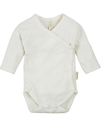 Sense Organics Long Sleeves Baby Wrap Body Ygon, Eco-white - 100% organic cotton Long Sleeves Bodies
