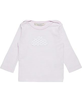 Sense Organics Long Sleeves Crewneck T-shirt Luna, Mauve Stripes and Cloud - 100% organic cotton Long Sleeves Tops