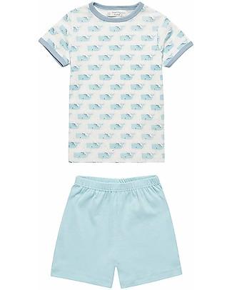 Sense Organics Short Pyjama Kafka Retro, Whales - 100% organic cotton Pyjamas