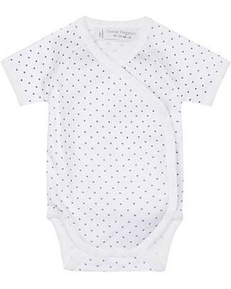 Sense Organics Short Sleeves Baby Wrap Body Ygon, Little Stars - 100% organic cotton Short Sleeves Bodies