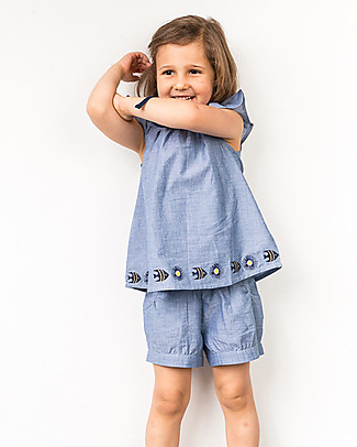 Sense Organics Shorts Olivia, Blue - 100% organic cotton Shorts