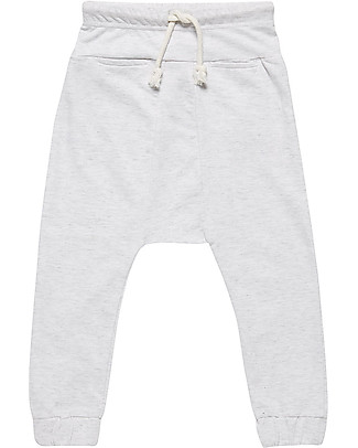 Sense Organics Sweat Pant Lasse, Grey Melange - 100% organic cotton Trousers