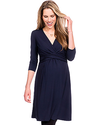 Seraphine A-Line Pregnancy and Nursing Farrah Winter Dress, Navy null