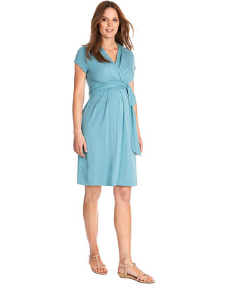 Seraphine Abbey Materity / Nursing Wrap Dress - Sea Breeze Dresses