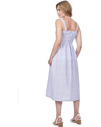 Seraphine Adalia, Maternity Button front Dress, Stripe - Linen/Cotton Special Occasion